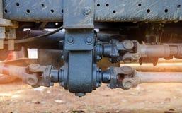 Trasmissione d'acciaio del metallo dell'albero motore per le applicazioni giranti Immagini Stock Libere da Diritti