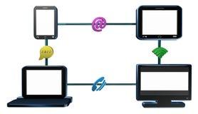 Trasmissione dei dati, video animazione Fotografie Stock