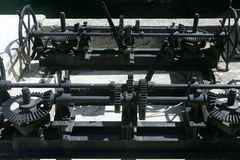 Trasmissione dell'attrezzo per i cancelli del lago della diga Fotografia Stock Libera da Diritti