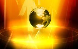 Trasmissione della freccia da indicatore luminoso giallo e da terra Immagine Stock Libera da Diritti