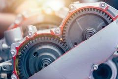 Trasmissione rotatoria automatica dell'ingranaggio del motore del motore del veicolo dell'automobile fotografia stock libera da diritti