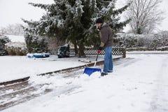 Traspaleo de la nieve Fotografía de archivo libre de regalías