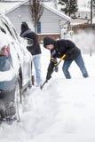 Traspaleo de nieve Foto de archivo libre de regalías