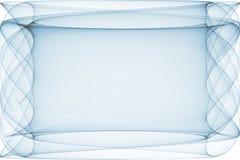 trasparent蓝色框架例证的页 向量例证