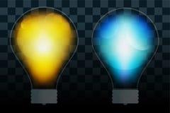 Trasparente della lampada della lampadina isolato Fotografie Stock
