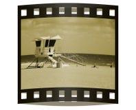 Trasparenza della foto a partire dalla vacanza della spiaggia Fotografia Stock
