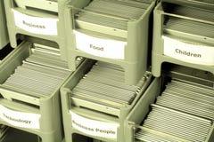 Trasparenze in cassetti Immagine Stock