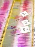 Trasparenze del microscopio Immagine Stock