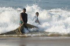 Trasportando nelle reti da pesca Fotografia Stock Libera da Diritti