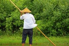 Trasportare di bambù, Cina Fotografia Stock Libera da Diritti
