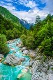Trasportare panorama con una zattera verticale della natura della valle di corso del fiume del fondo di sport immagini stock libere da diritti
