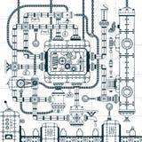 Trasportatore automatico industriale complesso illustrazione di stock