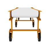 Trasportatore con le ruote sulla vista frontale bianca e Immagine Stock Libera da Diritti