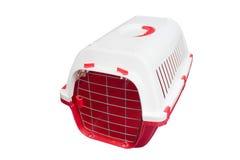 Trasportatore del gatto per viaggiare. Immagine Stock