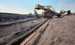 Trasportatore del minerale metallifero Fotografia Stock Libera da Diritti