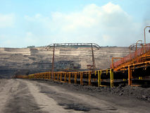 Trasportatore della lignite Fotografie Stock Libere da Diritti
