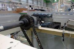 Trasportatore della trasmissione dell'asse e della catena Fotografia Stock Libera da Diritti