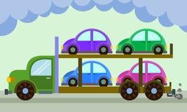 Trasportatore di automobile illustrazione vettoriale