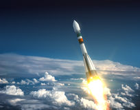 Trasportatore Rocket Take Off Fotografia Stock