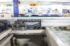 Trasportatori della catena di montaggio Fotografie Stock