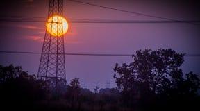 Trasporte électrique photographie stock libre de droits