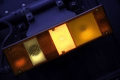 Trasporti l'indicatore luminoso su autocarro Immagini Stock