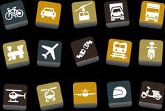 Trasporti l'insieme dell'icona Immagini Stock Libere da Diritti
