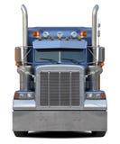 Trasporti la parte anteriore su autocarro isolata su bianco Fotografie Stock Libere da Diritti