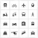 Trasporti le icone Fotografia Stock Libera da Diritti