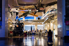 Trasporto al museo di scienza e di industria Fotografia Stock Libera da Diritti