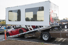 Trasporto automatico incluso entrante di Bugatti Veyron fotografia stock libera da diritti
