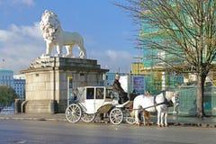 Trasporto bianco a Londra Fotografie Stock