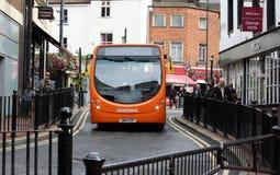 Trasporto britannico del bus Fotografie Stock Libere da Diritti