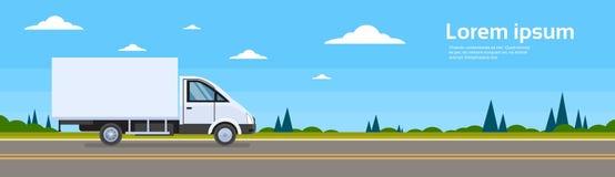 Trasporto commerciale di Lorry Car On Road Cargo del camion Fotografia Stock Libera da Diritti