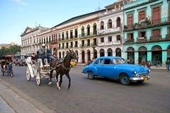 Trasporto in Cuba Fotografie Stock