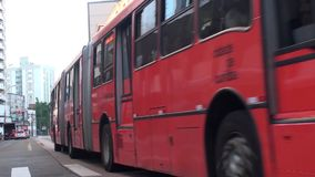 Trasporto Curitiba - nel Brasile stock footage