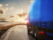 Trasporto del camion rappresentazione 3d Fotografia Stock