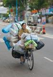 Trasporto del carico della bicicletta nel Vietnam Fotografia Stock