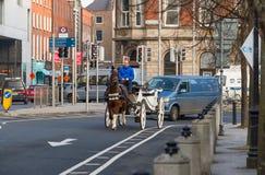 Trasporto del cavallo a Dublino fotografia stock libera da diritti