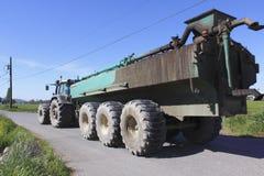 Trasporto del fertilizzante del concime Fotografia Stock Libera da Diritti