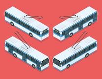 Trasporto del filobus della città Fotografia Stock