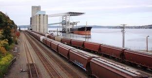 Trasporto del mare e dello sbarco Immagini Stock