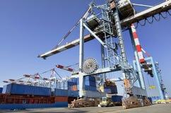 Trasporto del porto marittimo e carico di trasporto Fotografie Stock