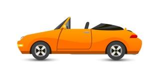 Trasporto del vechicle del cabriolet dell'automobile isolato su bianco illustrazione vettoriale