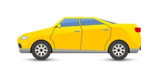 Trasporto del vechicle del cabriolet dell'automobile isolato su bianco illustrazione di stock