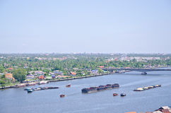 Trasporto dell'acqua a Bangkok Fotografia Stock