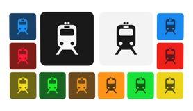 Trasporto dell'icona dei passeggeri, segno, illustrazione Fotografia Stock Libera da Diritti