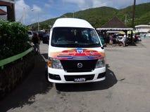 Trasporto dell'isola nei Caraibi Fotografia Stock Libera da Diritti