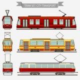 Trasporto della città di vettore del tram Fotografie Stock