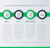 Trasporto della città, elementi infographic, icone lineari Immagine Stock Libera da Diritti